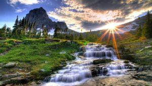 El tiempo soleado condición atrae al agua,